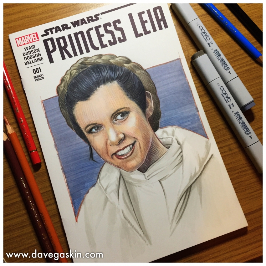 Carrie Fisher by BikerScout